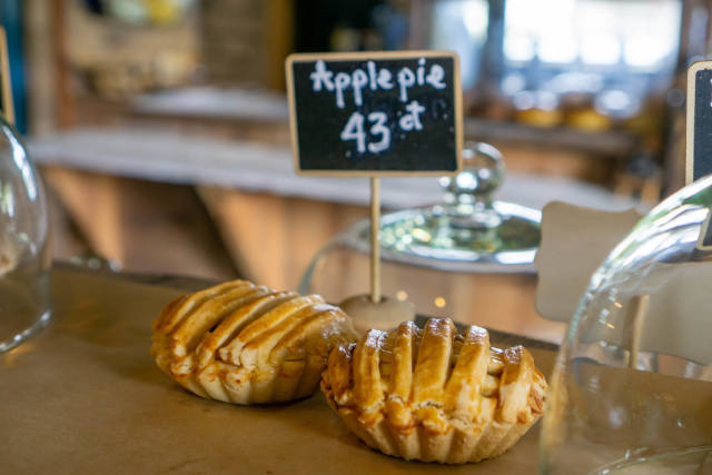 Close Up of Mini Apple Pie at a Cafe and Bakery in Da Lat, Vietnam