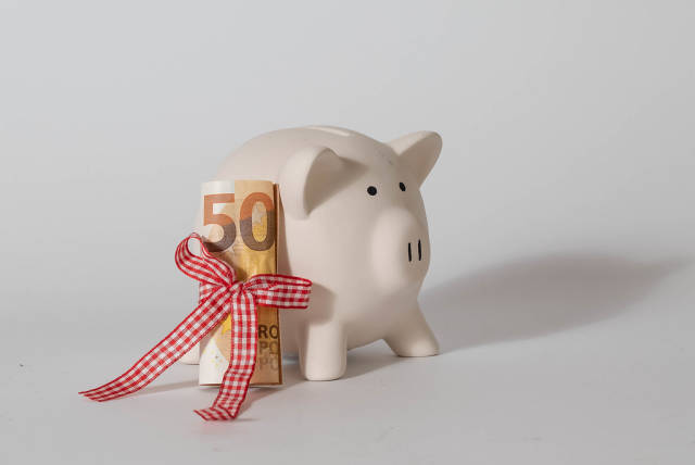 Piggybank with 50 Euros
