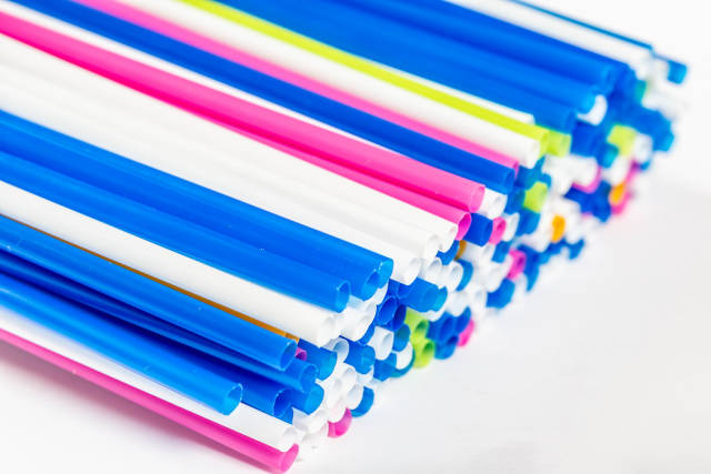 Plastic tubes of different colors