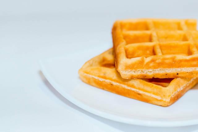 belgian waffles isolated