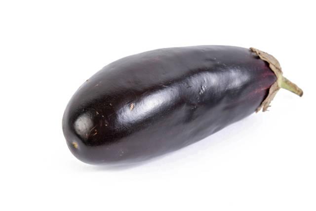 Eggplant above white background
