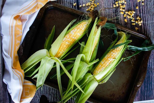 Fresh Corn close-up
