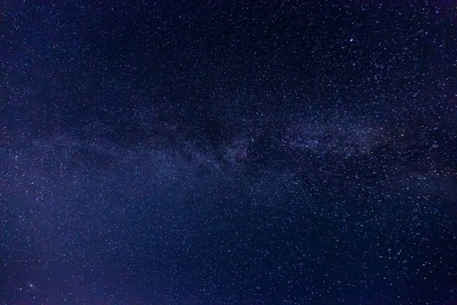 Part of the milky way in the night sky