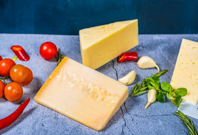 parmezan Cheese On background
