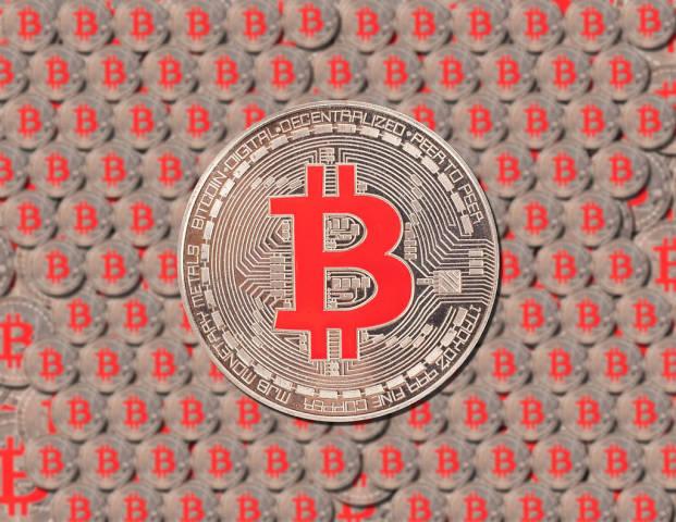 Texture of Bitcoin coins