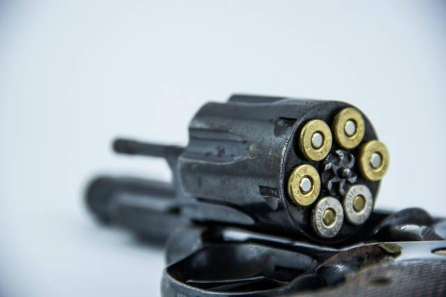 Macro of a Revolvers Magazine