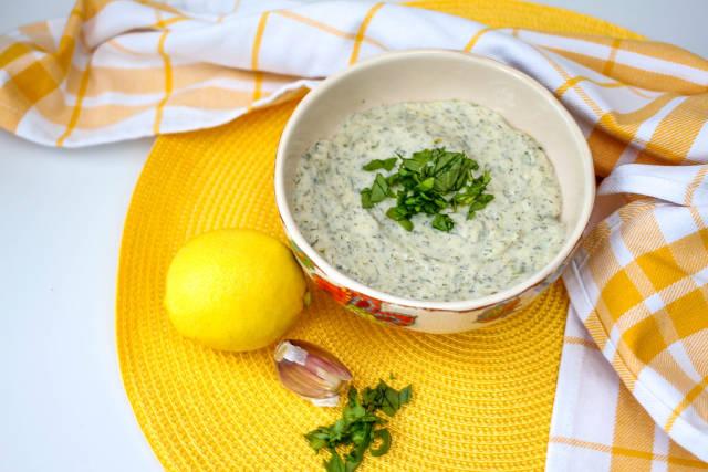 Lemon and Yogurt Salad Dip