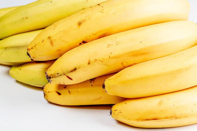 Fresh ripe bananas close up