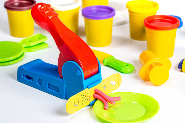 Set of childrens kitchen tools for cooking food