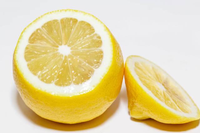 Ripe yellow lemon close-up