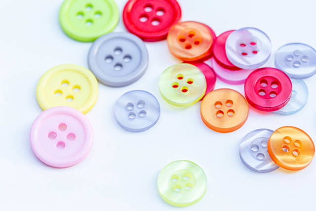 Colorful buttons for clothes