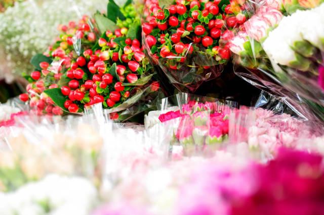 Flower button bouquets