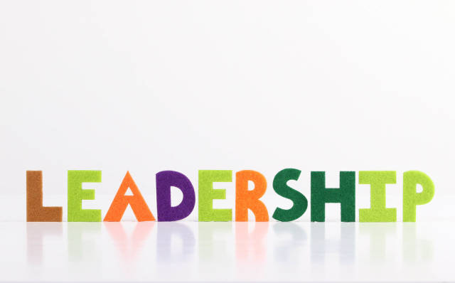 The word Leadership on white background