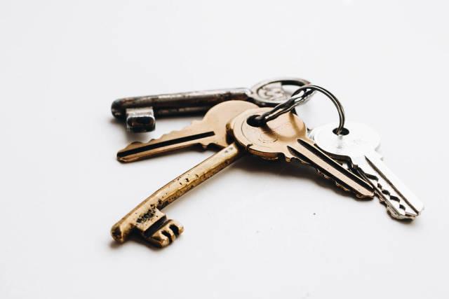 Nahaufnahme von alten Schlüsseln