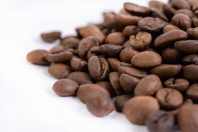 Macro fo Raw Coffee Beans
