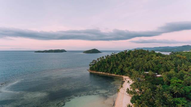 Overlooking small islands at Punta Bulata