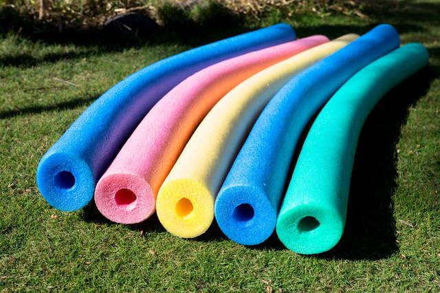 Colorful pool noodles