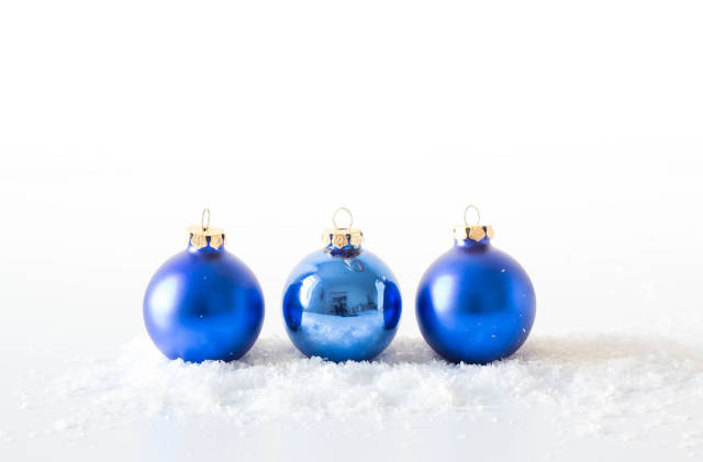 Blue Christmas ball ornaments