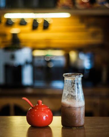 Sugar Bowl and Iced Macchiato at Mayoks Coffee Shop