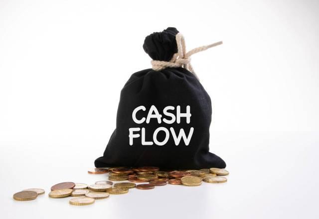 Money bag with Cash flow text