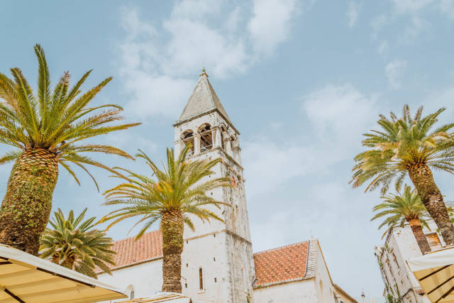 Tower of cathedral in Trogir