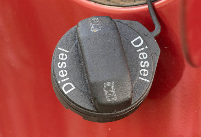 Tankverschluss eines Dieselfahrzeugs