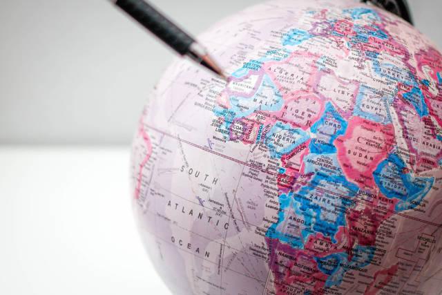Earth Globe Close-Up