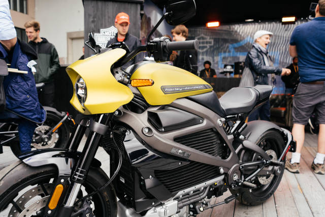 Electric motorcycle model by Harley Davidson