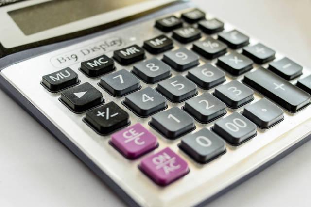Calculator , close up