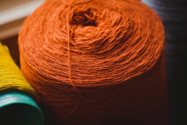 Soft Orange Yarn Ball