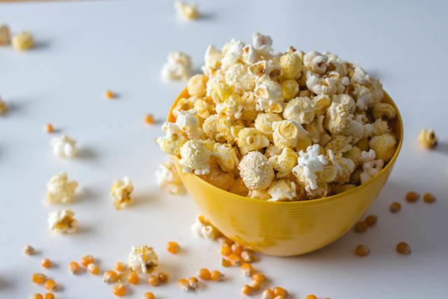 Popcorn Bowl on a White Background