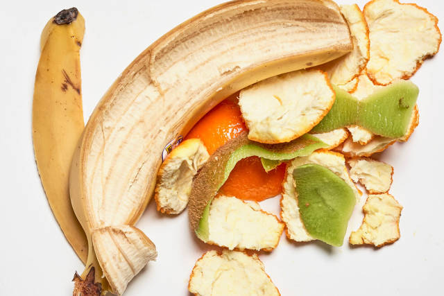 Tropical fruits leftover peels