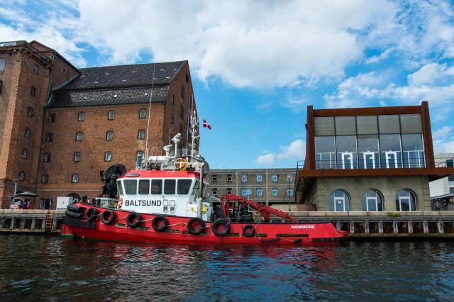 Svenborg boat anchord in Kobenhavn