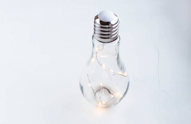 A bulb with lights inside