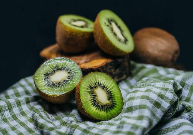 Fresh Pieces Of Kiwi