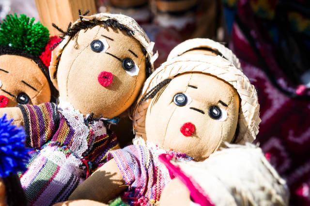 Handgefertigte Puppen aus Guatemala