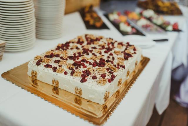 Walnut Amd Cranberry Cheese Cake Wedding Day