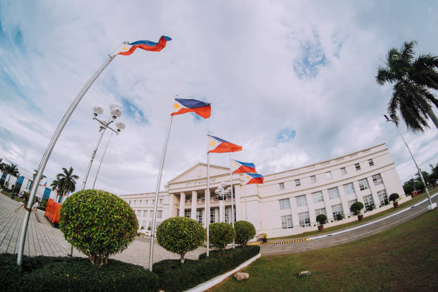 Philippine Flags showcased at Government Center, Bacolod City
