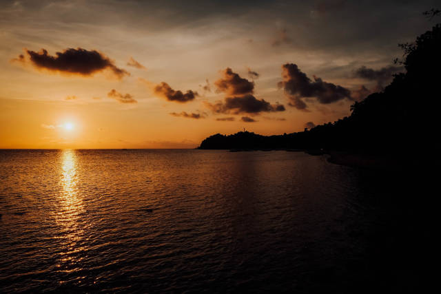 A beautiful sunset view in a local beach resort in Sipalay