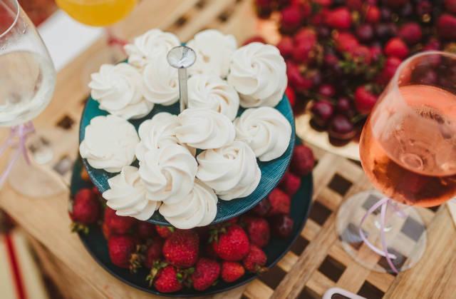 Sweet Dessert Mix Of Sefir, Berries And Wine