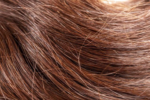 Healthy long dark hair background, close- up