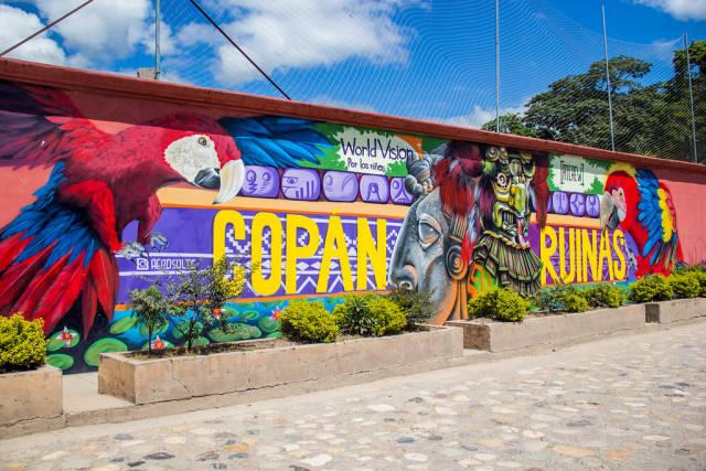 A Copan Ruinas Graffiti Painting.