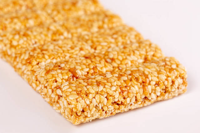 Eastern sweetness from sesame seeds, close up