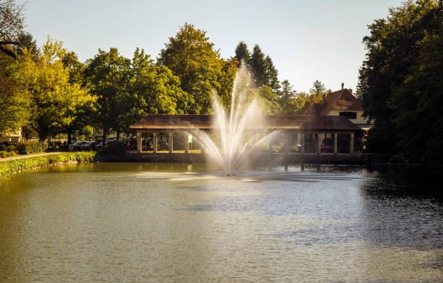 Water fountain in Maribor