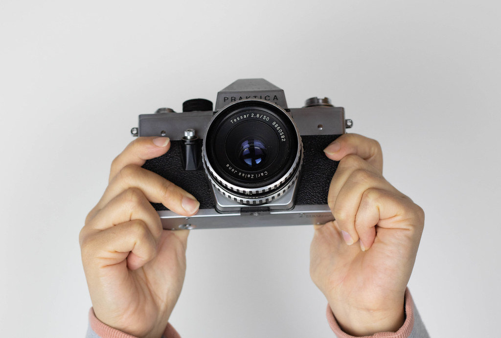 Alte Spiegelreflex-Filmkamera
