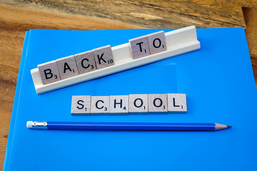 Back to School background with Letter and Pencil