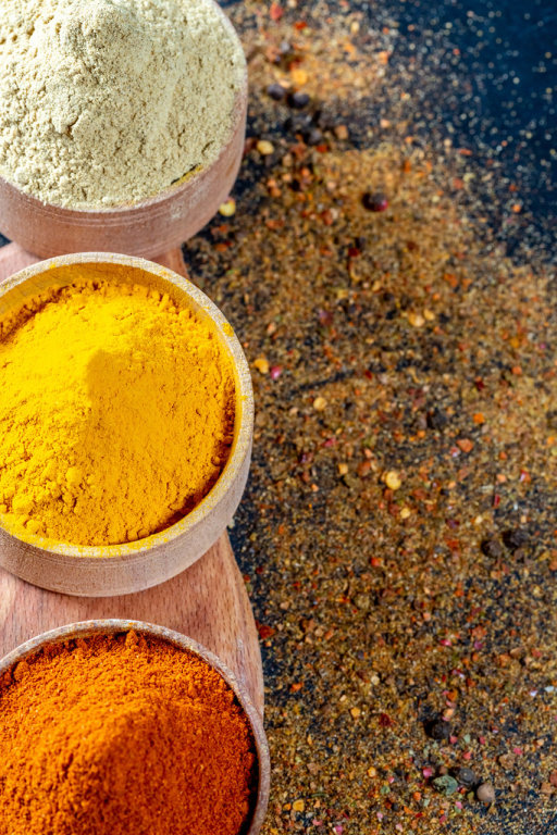 Hot red pepper, turmeric and ginger