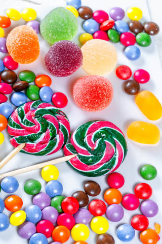 Colorful candies, candies and marmalade