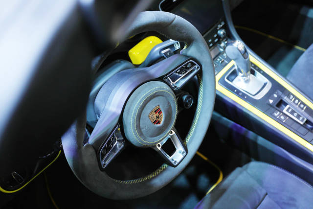 Porsche Carerra 911 interior view a Bucharest Auto Show 2019 SAB