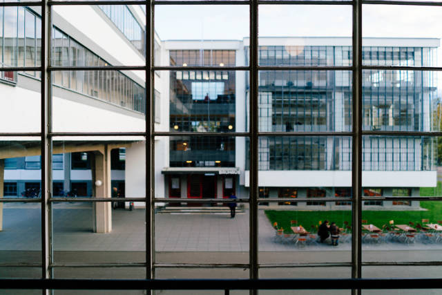 Bauhaus university building in Dessau